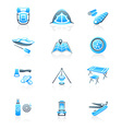 Camping icons - MARINE series vector image vector image