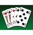 Poker hand - Full house vector image