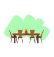 Dining Room Interior Design vector image vector image
