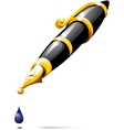 fountain pen blotch vector image