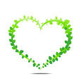 Leaf of heart vector image