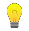 light bulb in flat style element ideas vector image