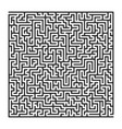 square labyrinth with entry and exit vector image