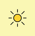 sun light brightness line icon vector image