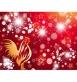 Red Fire Rooster Bright Background vector image vector image