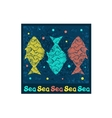 pattern with collection of tropical fish vector image