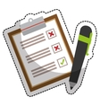 checklist icon image vector image vector image