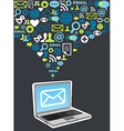 Email marketing campaign icon splash vector image