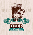 Hand drawn Oktoberfest vintage background vector image vector image