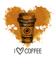 Hand drawn vintage coffee vector image vector image