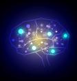 modern technology brain design vector image vector image