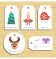 Christmas gift tags Ready to use Christmas vector image