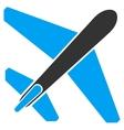 Jet Airplane Flat Icon vector image