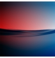 water line sunset vector image vector image
