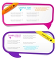 colorful speech frames vector image