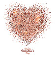 valentine card with gold dust heart 2 vector image vector image