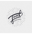 Festival food - labels stickers hand lettering vector image
