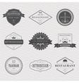 Brand and logo design old tavern badge vector image