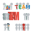 Flat people team vector image