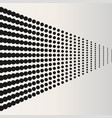 halftone dots black horizontaly located dots vector image