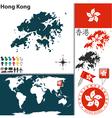 Hong Kong map world vector image