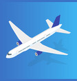 large passenger airplane 3d isometric flat high vector image