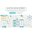 modern line flat design Hosting development vector image