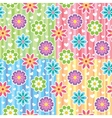 patterns with flowers vector image