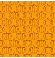 pumpkin seamless pattern vector image