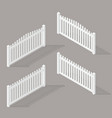 set of wooden fence vector image