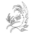 Butterfly with Floral vector image