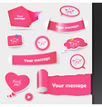 label stickers vector image