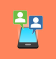 Smartphone chatting concept Isometric design vector image