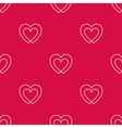 Seamless pattern with two hearts vector image