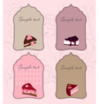 set of cute cake tags for design vector image
