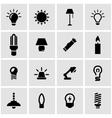 black light icon set vector image vector image