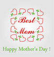 Happy Mothers day greetings vector image vector image