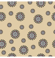 Abstract seamless pattern with swirls on beige vector image