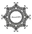 black frame mandala pr vector image