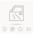 Car door icon Automobile lock sign vector image