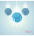 Concept with bulbs vector image
