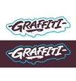 Graffiti lettering titles vector image