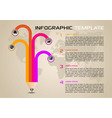 modern infographics with colorful pencil vector image