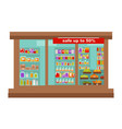 shop or supermarket grocery store shop-window vector image