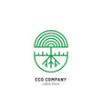 tree holistic eco logo vector image