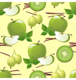 green fruits seamless vector image