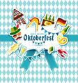 Flat design with oktoberfest celebration sym vector image