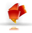 Abstract origami symbol vector image vector image