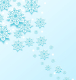 Christmas cold background with snowflakes vector image