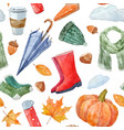 nice autumn pattern vector image